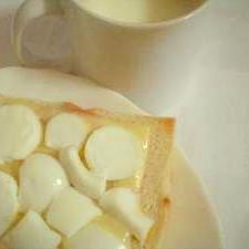 白いハムチーズトースト