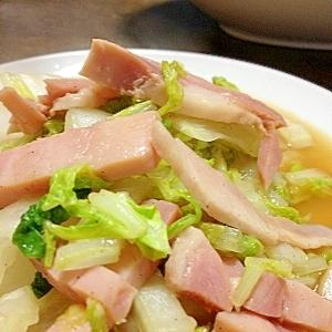 ササッとホットサラダ♪白菜とハムのポン酢サラダ❤
