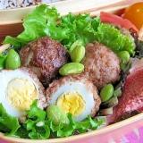 お弁当に♪ マヨ入り~うずら卵の肉団子