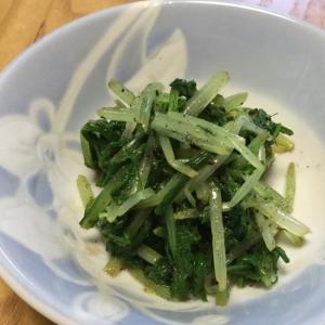 簡単!水菜のごま酢ナムル