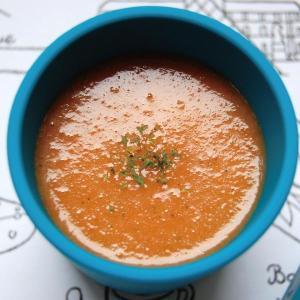 【離乳食7~8ヶ月】トマトと赤パプリカの冷製スープ