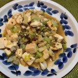 キャベツと豆腐のピリ辛醤油炒め