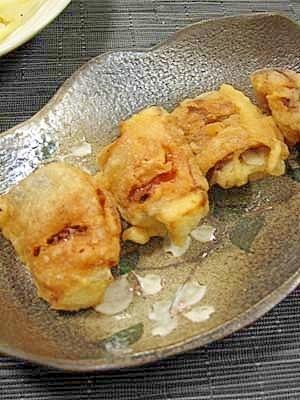茄子ベーコンの天ぷら