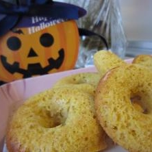 きいろの焼きドーナツ☆かぼちゃでふんわり