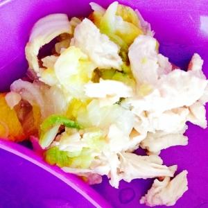 離乳食☆白菜とチキンの塩煮