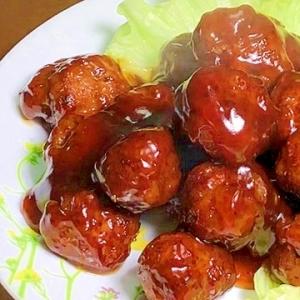肉団子の甘酢あん(プロの味の黒酢あん)