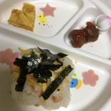 3歳児の娘✨ひな祭り(^^)ちらし寿司♡