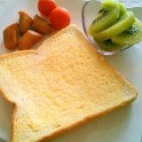 冷凍食パンで美味しいトースト朝ごはん♡