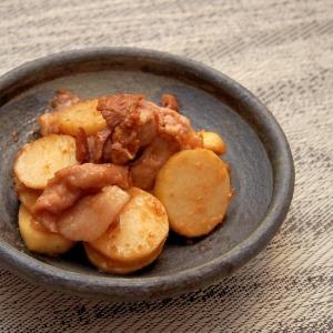 簡単こっくり!豚小間切れ肉と里芋の胡麻味噌炒め