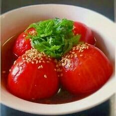 夏は冷やしトマト♡