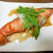 鮭のポン酢がけ