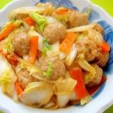 肉団子と白菜の中華煮