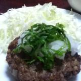 青シソおろしの塩麹ハンバーグ