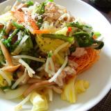 豚野菜炒めの皿うどん