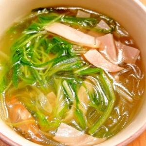 水菜と春雨の中華スープ