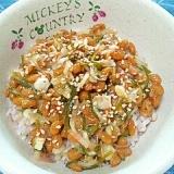 納豆の食べ方-切り昆布&ミョウガ♪
