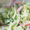 キャベツ、人参、きゅうり、ハムのマヨネーズサラダ