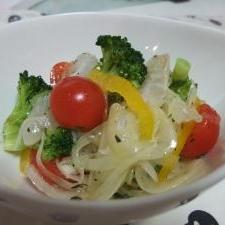 彩り鮮やか☆野菜たっぷりカルパッチョ