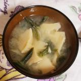 筍とわらびの味噌汁