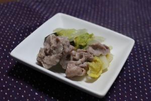 超簡単!白菜と豚肉の酒蒸し
