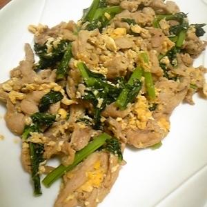 ごはんがすすむ♪豚肉と小松菜の卵炒め