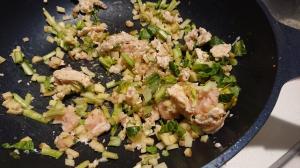 鶏ひき肉の生姜炒め