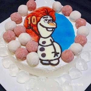 アナ雪ケーキ♪オラフ♪キャラチョコ④