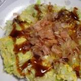 キャベツと卵だけのお好み焼き