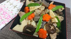 お正月に!麺つゆで簡単味付け、 お煮しめ・筑前煮