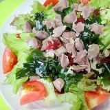 砂肝と海藻サニーレタスのサラダ