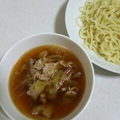 簡単美味しい♪和風豚ネギつけ麺☆