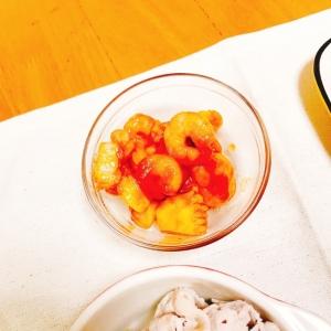 【糖質制限】辛くない!トマトソースのエビチリ風♡