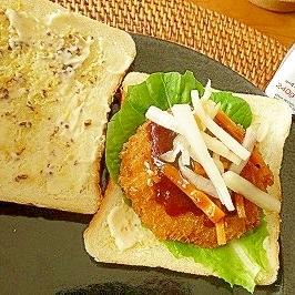 一人ごはんに☆簡単サンドウィッチ♪