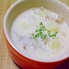 たっぷりきのこの豆乳スープ
