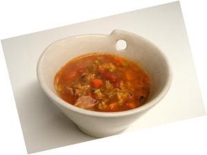 具沢山のトマトとカレースープ ミネストローネ風