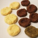 3種類のおからクッキー(バター、ココア、抹茶味)