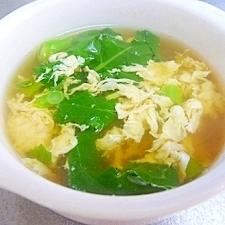 つぼみ菜の卵スープ