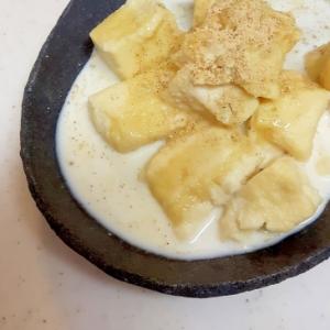 練乳ときな粉でうっとり甘い!高野豆腐のミルク煮♪