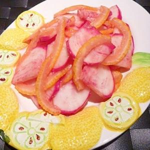 塩麹と柚子果汁でサッパリ☆かぶの柚子皮漬け