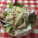 焼豚とロースハムの大根レタスサラダ