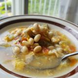 【独居自炊】大豆の煮汁で塩スープ