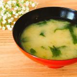 柔らか白菜とわかめのお味噌汁✧˖°