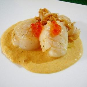 ホタテソテーと雲丹のソース