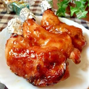 クリスマス★簡単☆骨つき鶏もも肉のマーマレード焼き
