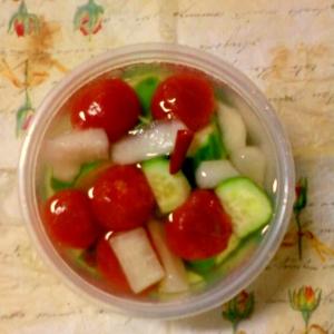 ☆*:・ミニトマトときゅうりと大根の酢漬け☆*:・