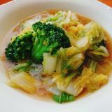 白菜とブロッコリーのうま煮