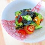 簡単!美味☆ニンニク塩麹でキュウリとトマトのナムル