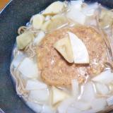 大根ごぼうハンバーグ蕎麦