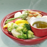 タジンで☆彩り蒸し野菜のバーニャカウダ♪