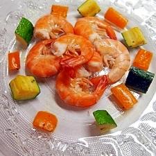 茹で海老で簡単前菜☆